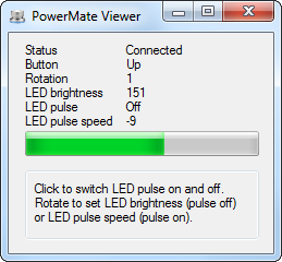 PowerMate Gui Example